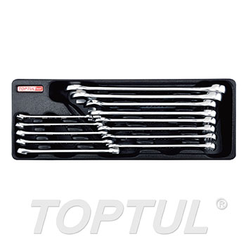 13PCS - 15° Offset Hi-Performance Combination Wrench Set (METRIC)