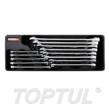 13PCS - 15° Offset Hi-Performance Combination Wrench Set (SAE)