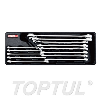13PCS - 15° Offset Super-Torque Combination Wrench Set (METRIC)