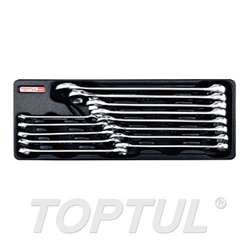 13PCS - 15° Offset Standard Combination Wrench Set (METRIC)