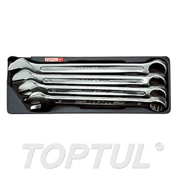 4PCS - 15° Offset Super-Torque Combination Wrench Set