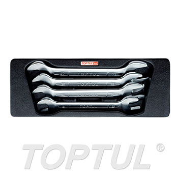 4PCS - Double Open End Wrench Set
