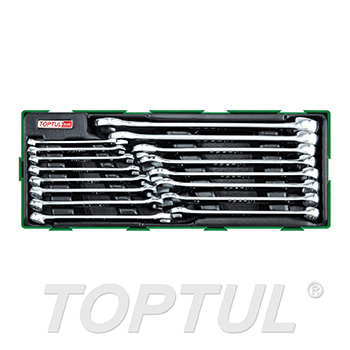 16PCS - 15° Offset Pro-Line Combination Wrench Set