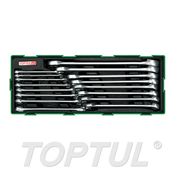 16PCS - 15° Offset Super-Torque Combination Wrench Set