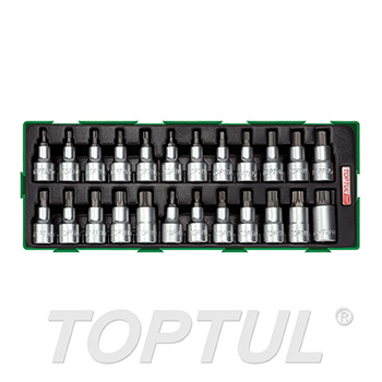 "24PCS - 1/2"" DR. Bit Socket Set"