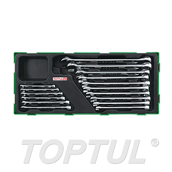 16PCS - 15° Offset Hi-Performance Combination Wrench Set