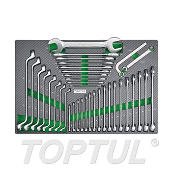 37PCS - Combination, Double Open End & Double Ring Wrench Set