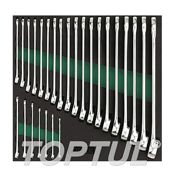 26PCS - 15° Offset Hi-Performance Combination Wrench Set