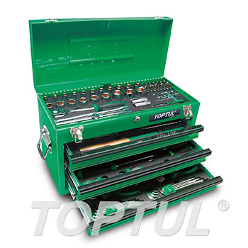 99PCS Professional Mechanical Tool Set W/3-Drawer Tool Chest