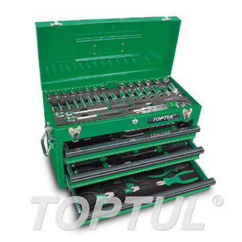 82PCS Professional Mechanical Tool Set W/3-Drawer Tool Chest