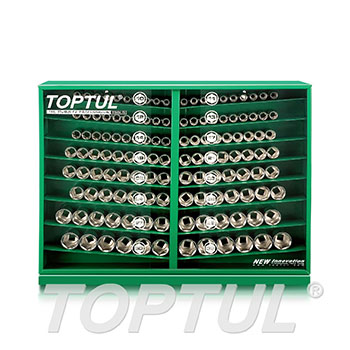 "130PCS 1/2"" DR. Socket Display Set"