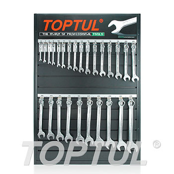 26PCS 15° Offset Super-Torque Combination Wrench Set W/Merchandise Display Board