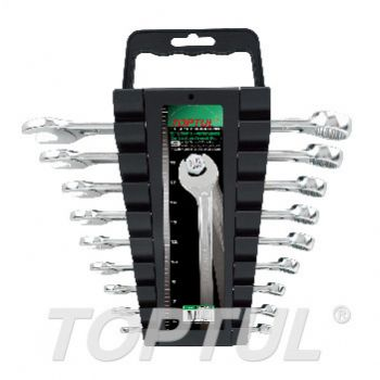15° Offset Hi-Performance Combination Wrench Set - STORAGE RACK - METRIC
