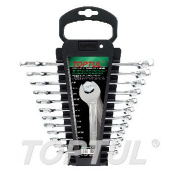 15° Offset Hi-Performance Combination Wrench Set - STORAGE RACK - SAE