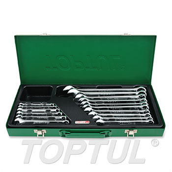 15° Offset Pro-Line Combination Wrench Set - METRIC