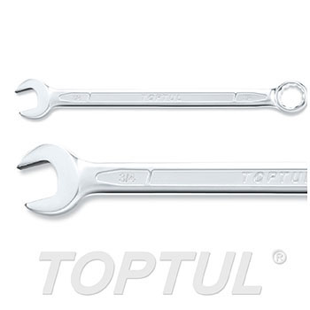 Long Combination Wrench 15° Offset - METRIC (Satin Chrome Finished)