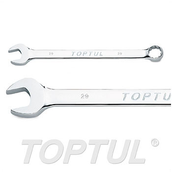 Long Combination Wrench 15° Offset - METRIC (Mirror Polished)