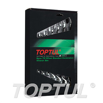 75° Offset Standard Combination Wrench Set - COLOR BOX