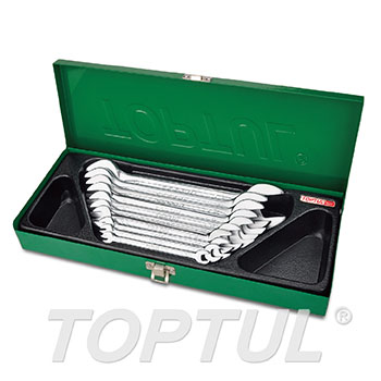 Double Open End Wrench Set - METAL BOX