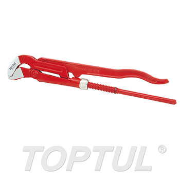 Pipe Wrench (45° Swedish model pipe wrench with S-shaped jaw)