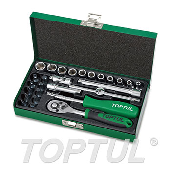 "27PCS 1/4"" DR. Socket Set"