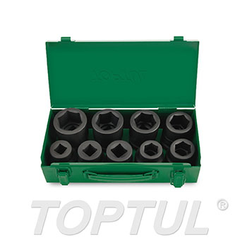 "9PCS 1"" DR. Flank Impact Socket Set"