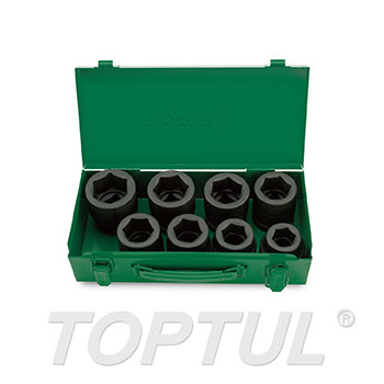 "8PCS 1"" DR. 6PT Flank Impact Socket Set"