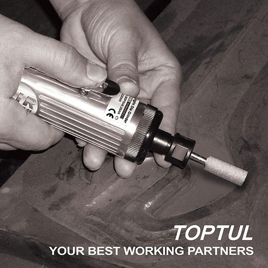 Pneumatic Grease Gun >> Air Straight Die Grinder Professional Grade Air Tools - TOPTUL The Mark of Professional Tools