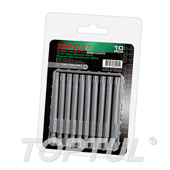 "1/4"" Hex Shank Star Power Screwdriver Bits (70mm)"