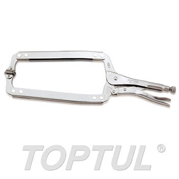 "C-Clamp Locking Pliers with Swivel Pads (18"")"