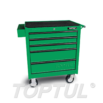 5-Drawer Mobile Tool Trolley - GENERAL SERIES - GREEN