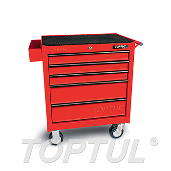 5-Drawer Mobile Tool Trolley - GENERAL SERIES - RED