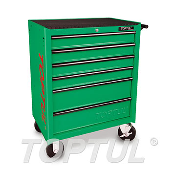 6-Drawer Mobile Tool Trolley - ECONOMIC SERIES - GREEN