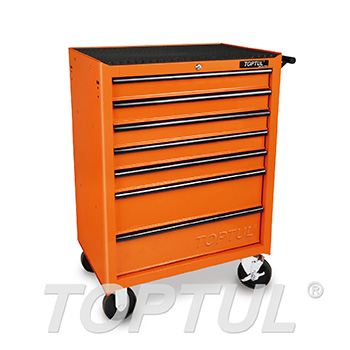 7-Drawer Mobile Tool Trolley - ECONOMIC SERIES - ORANGE