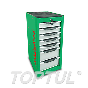 7-Drawer Side Cabinet - GREEN