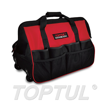 TOPTUL Tool Bag with Wheels and Telescoping Handle