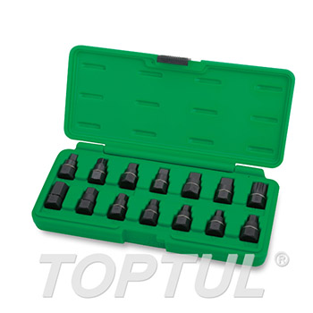 14PCS Master Oil Drain Plug Key Set