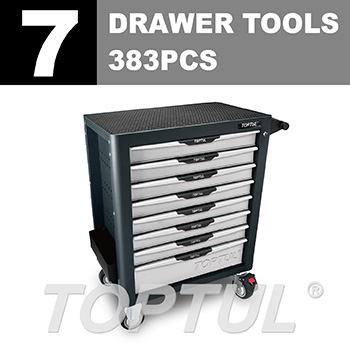 W/8-Drawer Tool Trolley - 383PCS Mechanical Tool Set