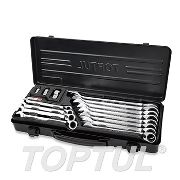 15PCS Pro-Series Reversible Ratchet Combination Wrench Set