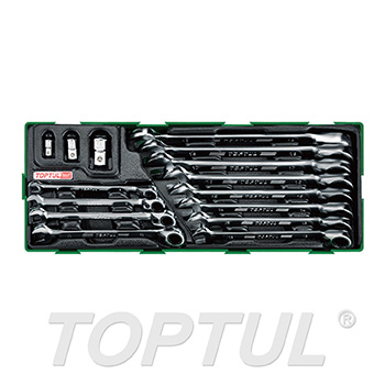 15PCS - Pro-Series Reversible Ratchet Combination Wrench Set