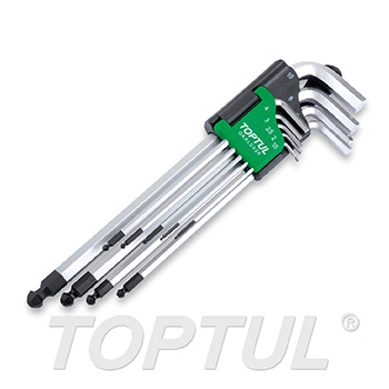 9PCS Extra Long Type Ball Point Hex Key Wrench Set