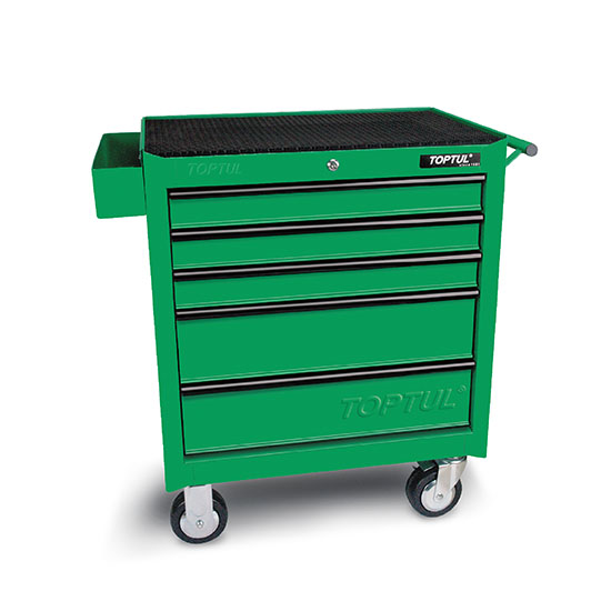5 Drawer Mobile Tool Trolley General Series Green