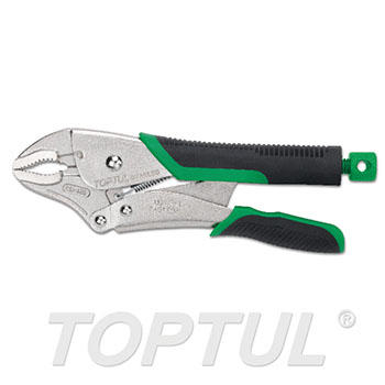 Curved Jaw Locking Pliers with Wire Cutters (Easy Release Type)
