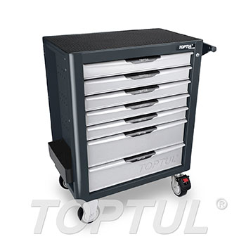 NEW MODEL - 7-Drawer Mobile Tool Trolley - PRO-PLUS SERIES - GRAY - Flat Finished