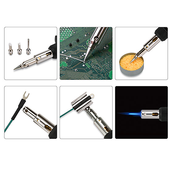 8PCS Gas Soldering Iron Set